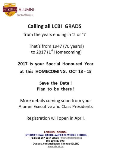 LCBI Grad Announcement